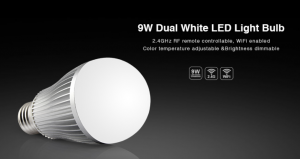 ŻARÓWKA WiFi E27 WARM WHITE + COLD WHITE 9W Mi-Light