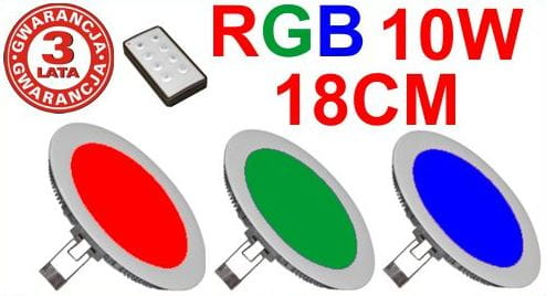 PANEL LED RGB 10W OKRĄGŁY 18cm
